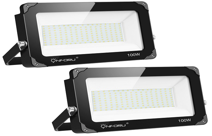 Onforu 2 Pack 100W LED Flood Light